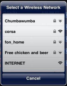 "Tumblr of the Day: ""Your Wi-Fi"" – Lustige Namen von Wi-Fi Netzwerken on http://www.drlima.net"