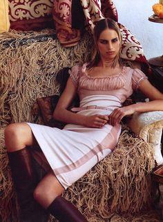 'The Damsel Dress': Karolina Kurkova by Steven Meisel for Vogue US, July 2002