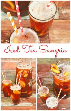 Get this healthy recipe for Ice Tea Sangria made with frozen fruit and no calorie sweetener at This Mama Cooks! On a Diet (sponsored)