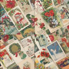 Nice! Vintage Lot of 1900's ~CHRISTMAS Postcards-60 Cards-Santa~Kids-Angels-a233 #Christmas