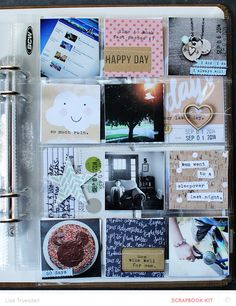 092014 // squares by gluestickgirl at - Project Life Handbook Project Life 6x8, Project Life Scrapbook, Project Life Layouts, Scrapbook Journal, Scrapbook Page Layouts, Pocket Scrapbooking, Studio Calico, Birthday Diy, Scrapbook Paper Crafts