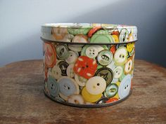 Vintage Button Tin, by Buppins