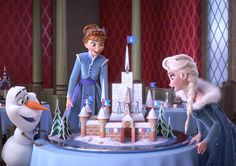The lovable Frozen snowman and his pals Elsa and Anna star in Olaf's Frozen Adventure