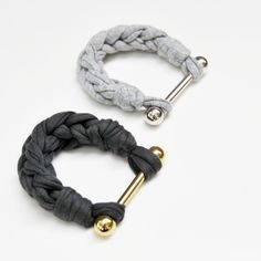 statement bracelet gold- or rhodium plated with recycled cotton; available via www.malo-products.com #malo #bracelet #statement