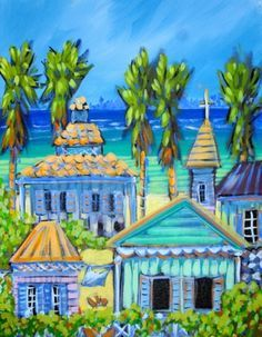 Caribbean colors on Pinterest | Flamingos, Boats and Beach Cottages