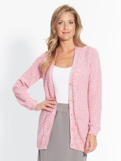 Ladies Elegant Cable Cardigan, Ladieswear