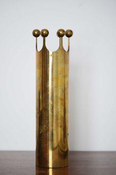 Pierre Forsell; Brass Vase for Skultuna, 1960s. http://arte-case.com