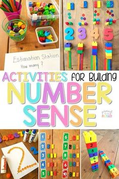 The ultimate spot for teachers to find math tips and strategies for building number sense to 20 in Kindergarten and first grade. An extensive list of number sense activities and resources are included: books, materials, math manipulatives, and FREE activi Numbers Kindergarten, Numbers Preschool, Math Numbers, Teaching Numbers, Decomposing Numbers, Preschool Learning, Kindergarten Activities, Activities For Kids, Preschool Math Games