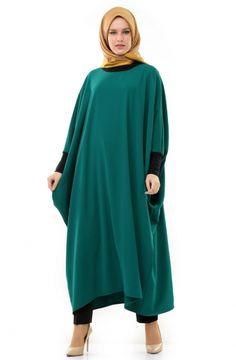 Saadet.Le.Moda Uzun Tunik-Yeşil 3215-21