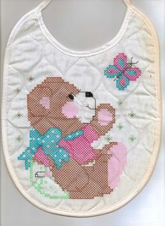 5 pre-quilted stamped BABY BIBS @C99Sale | #eBay