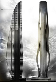 Relief Tower, Daniel Caven, Illinois Institute of Technology, proposed for the River North area of Chicago