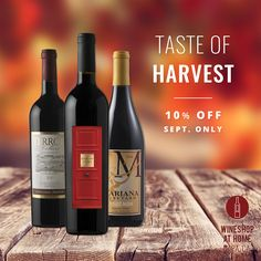 A trio of reds perfect for celebrating the start of harvest season! Ask me for info! French Wine Regions, Wine Shop At Home, Wine Club Monthly, Best Wine Clubs, Food Gift Baskets, Wine Tasting Experience, Wine Auctions, Wine Merchant, Mariana