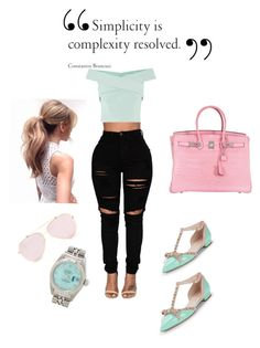"""Simplicity is complexity resolved"" by miss-sanjuanita on Polyvore featuring Kate Spade, Hermès and Rolex"