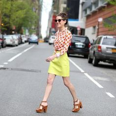 American Apparel neon leather skirt Neon yellow/green leather skirt. In awesome condition! American Apparel Skirts Pencil