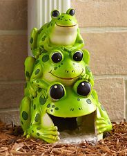 Add a decorative note and direct rainwater away from your house with this Silly Stacked Critter Downspout. The opening on the back allows you to attach it to an ordinary downspout on the side of your home. x x Cold cast cera Funny Frogs, Cute Frogs, Animal Jam Codes, Decorative Downspouts, Dwarf Frogs, Frog Habitat, Animal Jam Play Wild, Frog House, Frog Pictures