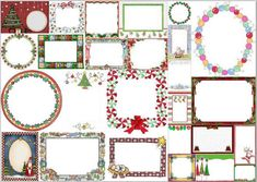 Free Printable Frames for Christmas.