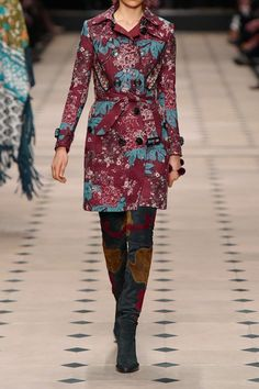 Burberry Prorsum | Embroidered floral-print cotton-blend trench coat | NET-A-PORTER.COM