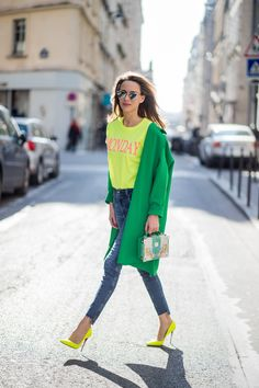 Neon Yellow, Green, and Blue