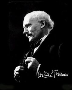 Maestro Toscanini - he was great friends with composer Giacomo Puccini, (1858 - 1924). Puccini died during the writing of his final opera, Turandot, and from there Maestro Toscanini finished for him and it was released in 1924.