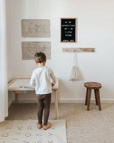 Playroom design Gathre mat letterhead in playroom sensory table Playroom Wall Decor, Playroom Furniture, Playroom Organization, Playroom Design, Interior Paint, Interior Design, Sensory Table, Michael Scott, Kid Spaces