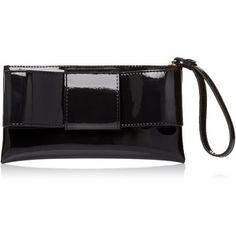 Orla Kiely Patent Leather Bowflat Zip Purse Wallet