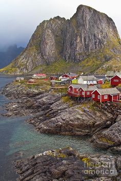 Hamnoy Rorbu Village - Norway- nothing but just like a picture