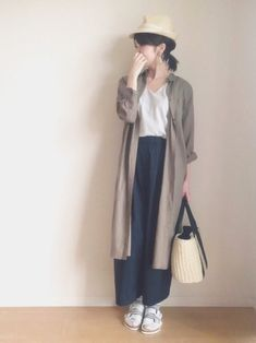 The shirt dress to suit a wide pants and finish in this year ish Corde.  Plus the first Rashi in the basket bag and hat.  It is fashionable Corde while simple.