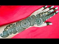 Very Simple Mehndi Designs, Latest Arabic Mehndi Designs, Henna Tattoo Designs Simple, Back Hand Mehndi Designs, Full Hand Mehndi Designs, Henna Art Designs, Mehndi Designs For Beginners, Mehndi Design Photos, Wedding Mehndi Designs