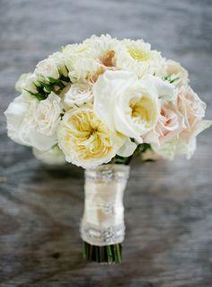 White & Blush Garden Roses$300  Green Sweet Pea  Hydrangea