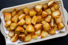 Roasted Duck Fat Potatoes | The Domestic Man