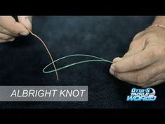 HOW TO Tie BRAIDED Fishing Line to MONOFILAMENT or Fluorocarbon Leader- Easy and Strong Fishing Knot - YouTube