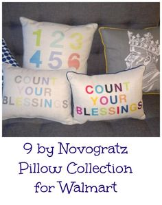For mini-style, 9 by Novogratz is a fun, colorful collection designed exclusively for Walmart by the husband and wife Novogratz team.  Love these colorful pillows. Most are $20! http://www.momtrends.com/2014/09/walmart-style-news/