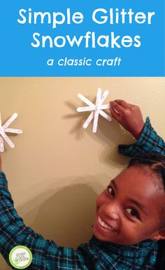 This simple yet elegant project is a great addition to your holiday decor! http://www.greenkidcrafts.com/glitter-snowflakes/