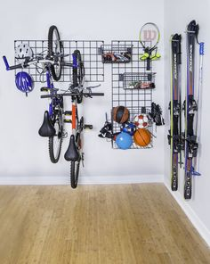 Keep all your sports equipment in one spot with #ActivityOrganizers by #OrganizedLiving