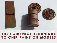 How to chip paint on your scale models using hairspray - video tutorial.