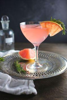 The French Tart (Grapefruit, Elderflower and Rosemary Cocktail)