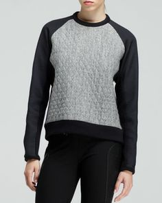 Flight Quilted Raglan Sweatshirt by Rag & Bone at Neiman Marcus.