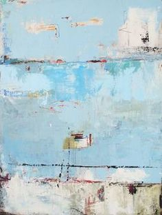 """Pier Fishing,"" original abstract painting by artist  Jane Farrimond Kilter available at Saatchi Art #SaatchiArt"