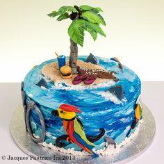 Tropical Island cake