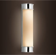 """Kent Sconce from Restoration Hardware.  Available in Satin Nickel, Polished Chrome, Oil-Rubbed Bronze, and Polished Nickel.  10"""" Sconce: 4¼""""W x 3¾""""D x 10½""""H 15"""" Sconce: 4¼""""W x 3¾""""D x 15½""""H"""