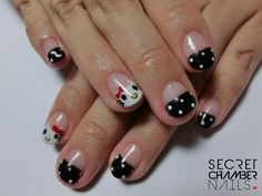 black french with hello kitty   make your nail appointment with us