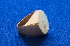Gold Signet Ring Custom Engraved Traditional Sizes. by Regnas on Etsy
