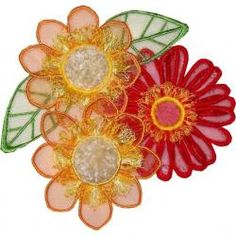3d Flowers Embroidery Designs