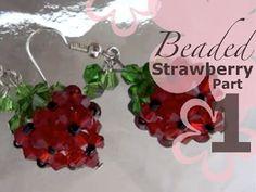 ▶ MeiIris' Beaded Sweet Strawberry Earrings Part 1 - YouTube