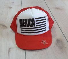 5cbfb5e8c9c Merica  Merica Glitter Trucker Hat Patriotic Hats Fourth Of July Hat  Memorial Day Glitter Merica Womens Trucker Hats. Patriotic HatsUsa ...