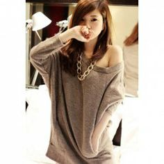 $5.02 Relaxed Long Sleeve Loose Sweater For Women