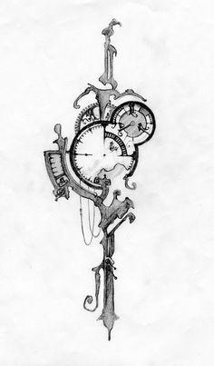 deviantART: More Like Pocket Watch Tattoo design by ~XxMortanixX