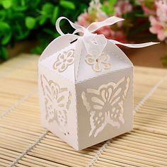 Cajas de regalos ( Blanco , Papel perlado ) - Tema Jardín - Matrimonio/Despedida de Soltera – USD $ 6.99