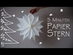 DIY Papier Stern - in 5 Minuten - kekulo christmas - YouTube