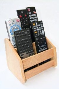 #fathers day gifts Remote Control Organizer Caddy - Solid Hardwood $19.99